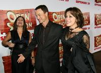 Gary Sinise, Sandra Rabins and Penney Finkelman-Cox at the premiere of