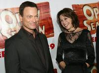 Gary Sinise and Penney Finkelman-Cox at the premiere of