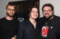 Kevin Smith, Scott Mosier and Edgar Wright at the opening night of