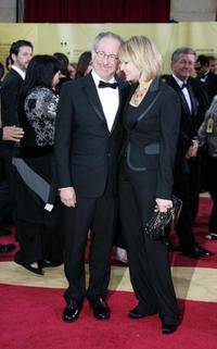 Steven Spielberg and Kate Capshaw at the 79th Academy Awards.