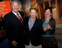 Howard Phansteil, Jerry Stiller and Nancy Cantor at the Syracuse University's $1 Billion Capital Campaign Kick off.