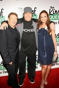 Jerry Stiller, Kevin James and Leah Remini at the final season wrap party of