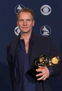 Sting at the 2000 Grammy Awards.