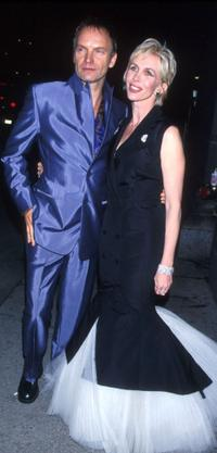 Sting and Trudie Styler at the benefit party for the Rainforest Foundation.