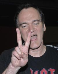Quentin Tarantino at the Philippine theater in Manila to deliver a lecture on movie-making.