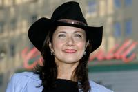 Lynda Carter at the premiere of