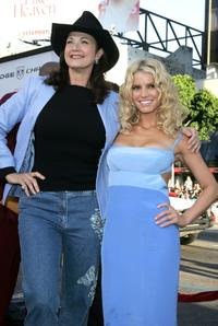 Lynda Carter and Jessica Simpson at the premiere of