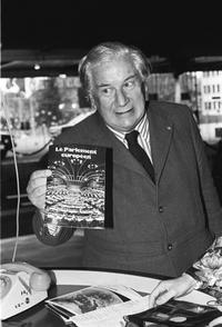 File photo of Peter Ustinov, British actor and dramatist, at the European Parliament.