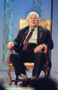 File photo of Peter Ustinov, British actor and dramatist, on the French television show