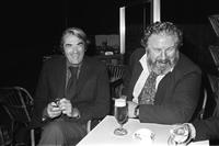 Peter Ustinov with Gregory Peck at the Cannes Film Festival.