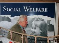 File photo of Sir Peter Ustinov, British actor and dramatist at the World Summit for social development.