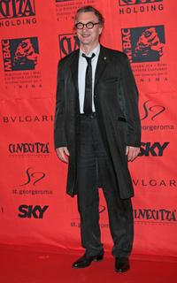 Wim Wenders at the 70 years of Cinecitta Studios Party.