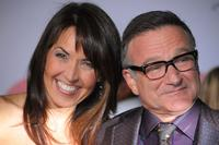 Susan Schneider and Robin Williams at the California premiere of