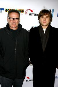 Robin Williams and Cody Williams at the