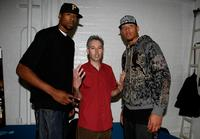 Deandre Jordan, Adam Yauch and Michael Beasley at the after party of