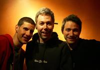 Mike Diamond, Adam Yauch and Adam Horovitz at the party of