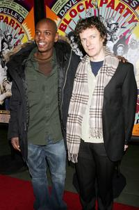 Dave Chappelle and Michel Gondry at the premiere of