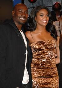 Morris Chestnut and Gabrielle Union at the taping of BET 106 and Park.