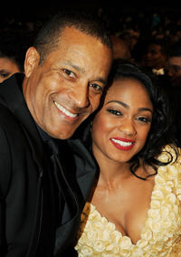 Phil Morris and Tatyana Ali at the after party of 42nd NAACP Image Awards in California.