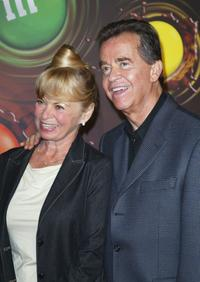 Dick Clark and wife Kari Wigton at the The M&M's Brand City party.