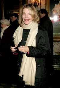 Jill Clayburgh at the play opening night of