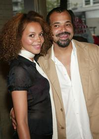 Carmen Ejogo and Jeffrey Wright at the premiere of