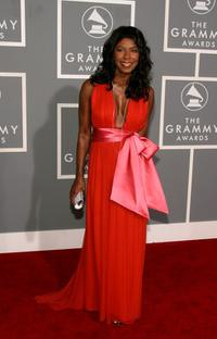 Natalie Cole at the 49th Annual Grammy Awards.