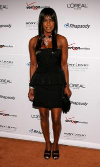 Natalie Cole at the Clive Davis pre-Grammy party.