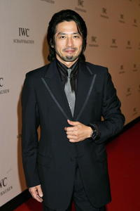 Hiroyuki Sanada at the IWC Da Vinci Launch party in Geneva.