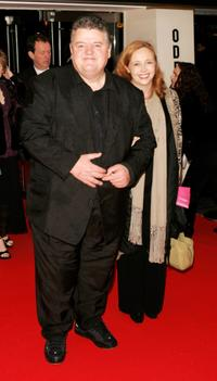 Robbie Coltrane and his guest at the premiere of