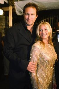 John Corbett and Bo Derek at the pre-Kentucky Derby Barnstable-Brown party.