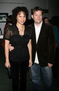 Gloria Reuben and Christopher Zalla at the opening night party of the 36th Annual New Directors / New Films Festival.