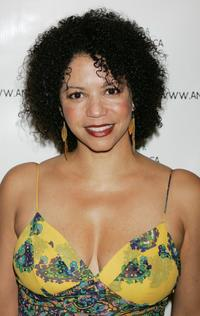 Gloria Reuben at the Archbishop Desmond Tutu's 75 birthday gala fundraiser