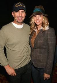Kevin Costner and his wife Christine Baumgartnerpose at the Afterglow party during Mohegan Sun 10th Anniversary celebration.