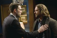 Ben Affleck as Stephen Collins and Russell Crowe as Cal McAffrey in