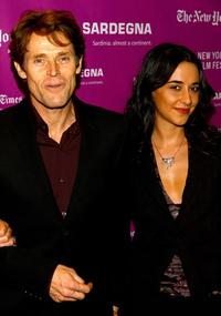 Willem Dafoe and Giada Colagrande at the New York Film Festival.
