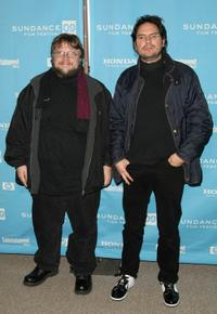 Guillermo del Toro and Carlos Cuaron at the premiere of