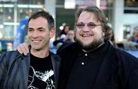 Vincenzo Natali and Guillermo del Toro at the premiere of