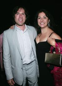 David O. Russell and Janet at the after party of the screening of