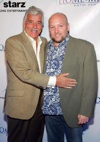 Dennis Farina and Zak Penn at the opening night party of