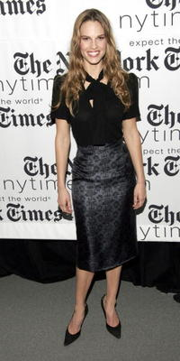 Hilary Swank at the New York Times Arts and Leisure Weekend photo-op in New York City.