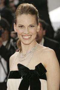 "Hilary Swank at the premiere of ""Chromophobia"" in Cannes, France."