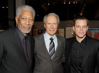 Morgan Freeman, Clint Eastwood and Matt Damon at the California premiere of