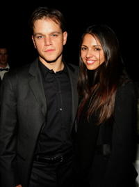Actor Matt Damon and fiance Luciana Barroso at the after party of the N.Y. premiere of
