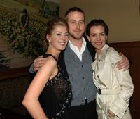 Embeth Davidtz, Rosamund Pike, and Ryan Gosling at the after party following the LA premiere of