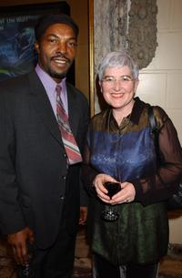Isaach de Bankole and Director Marie-Pierre Macia at the 34th Director's Fortnight.