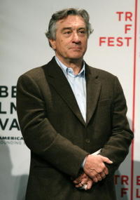 Robert De Niro at the opening press conference to kick off the 5th Annual Tribeca Film Festival.