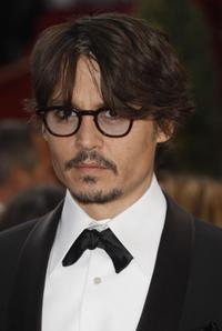 Johnny Depp at the 80th Annual Academy Awards.
