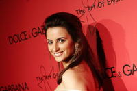 Penelope Cruz at the announcement of the charity collaboration between fashion designers Dolce & Gabbana and actress Penelope Cruz in Los Angeles.