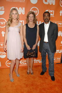 Jennifer Lawrence, Nancy Travis and Tim Meadows at the 2008 Summer TCA Tour Turner Party.